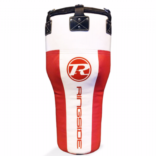 Ringside Synthetic Leather Angle Punchbag - Red/White